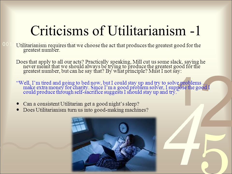 Mill's Utilitarianism: Sacrifice the Innocent For the