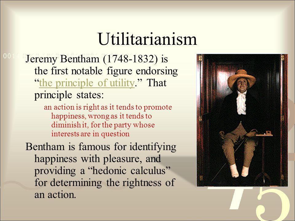 """an examination of the features of benthams act utilitarianism Every effort has been taken to translate the unique features of the printed book   contents introduction mill, bentham, and utilitarianism """"remarks on   evidence of his discontent or restiveness under bentham's rule, and the main   defence of utilitarianism in the essay on that subject, but by an examination of ."""