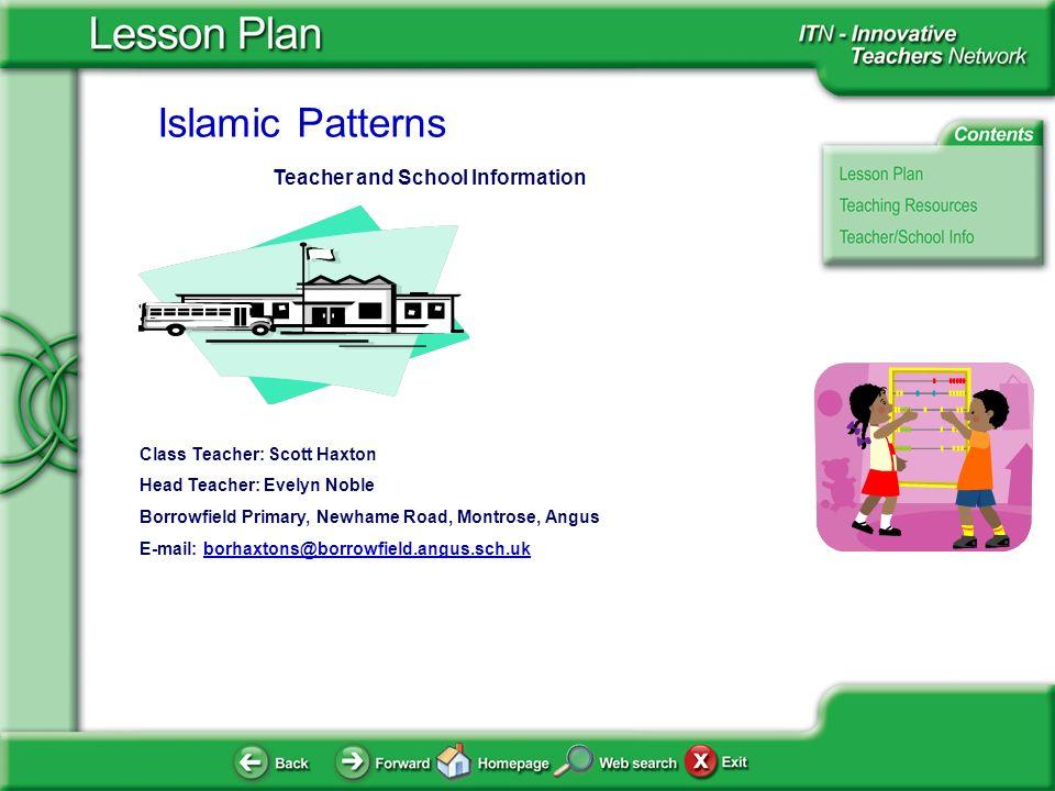 Teacher and School Information
