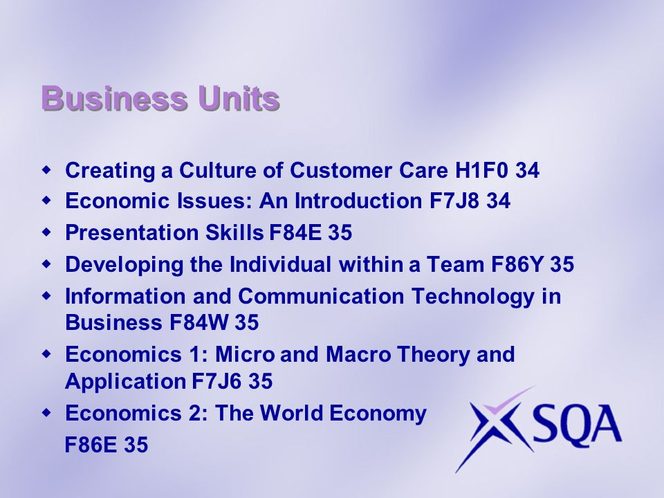 Business Units Creating a Culture of Customer Care H1F0 34