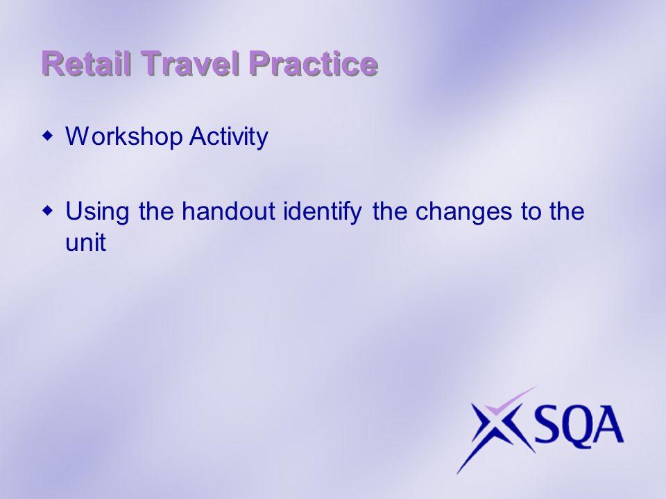 Retail Travel Practice