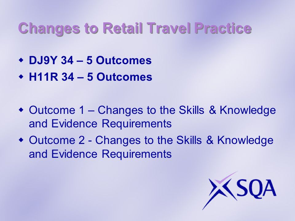 Changes to Retail Travel Practice