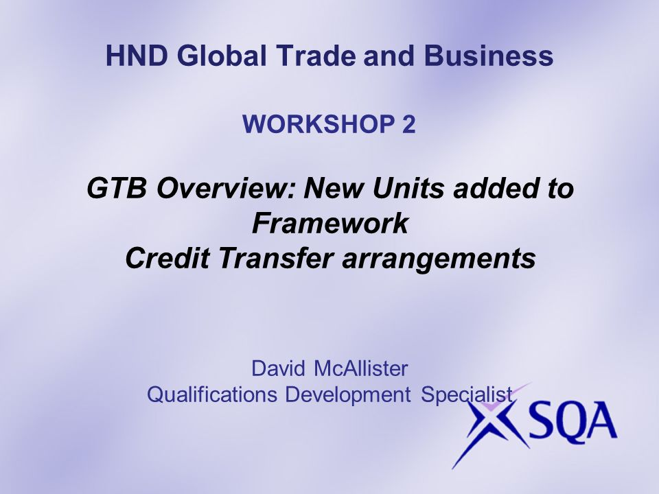 HND Global Trade and Business