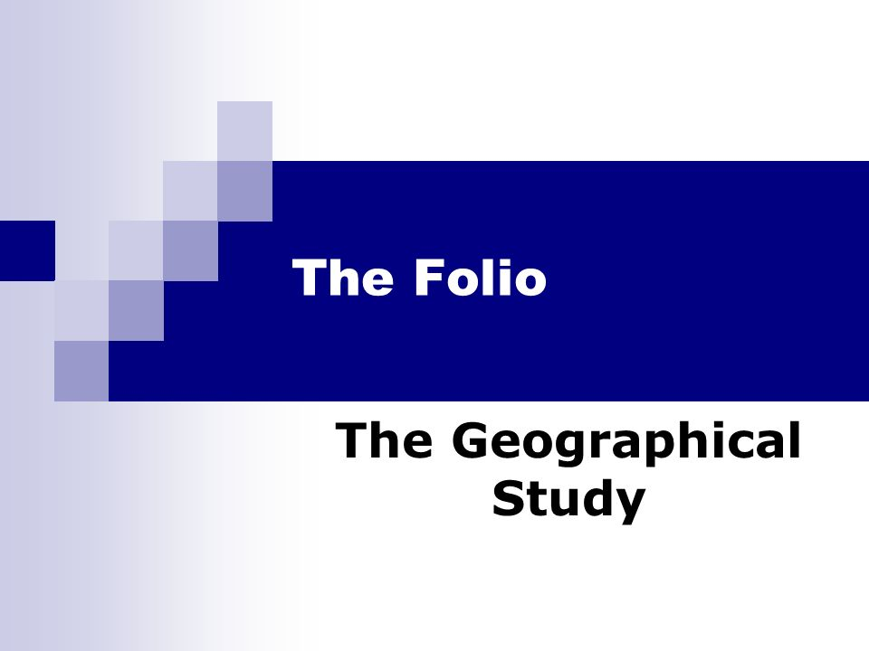 The Geographical Study