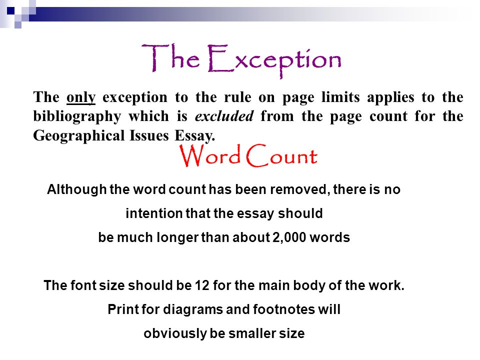 The Exception Word Count