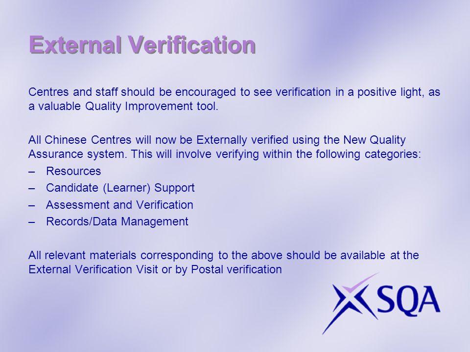 External Verification