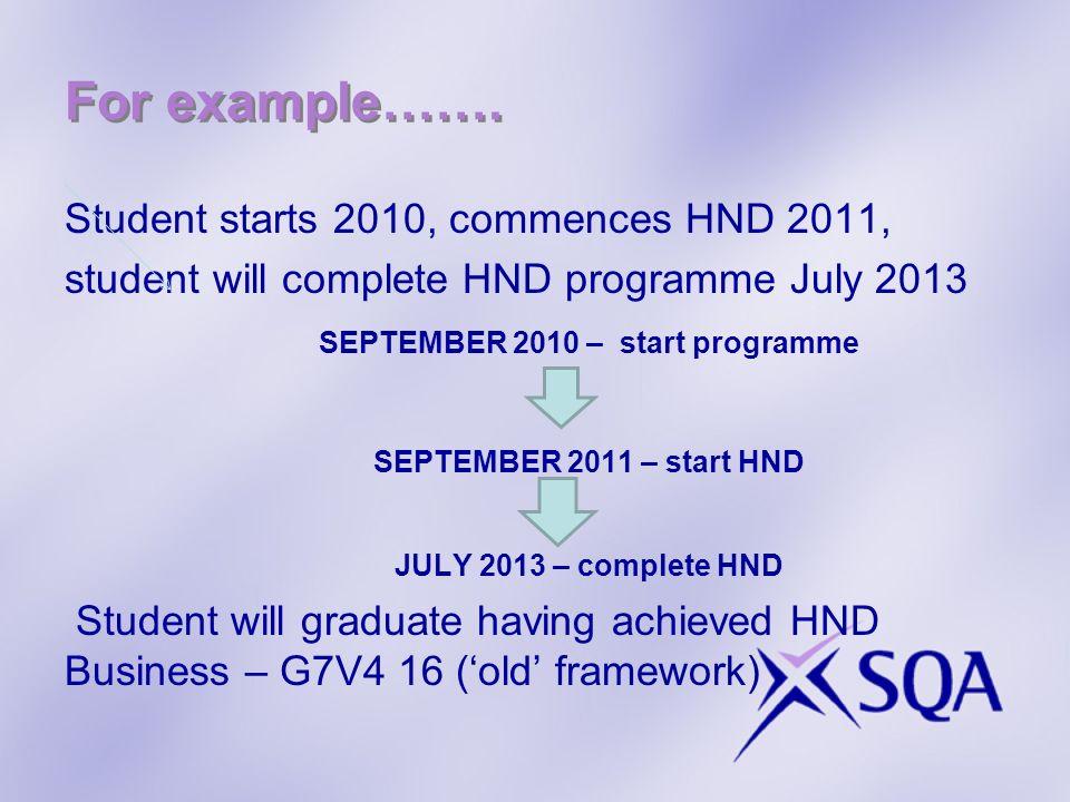 SEPTEMBER 2010 – start programme