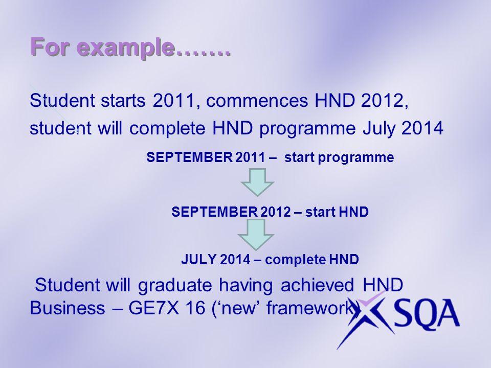 SEPTEMBER 2011 – start programme