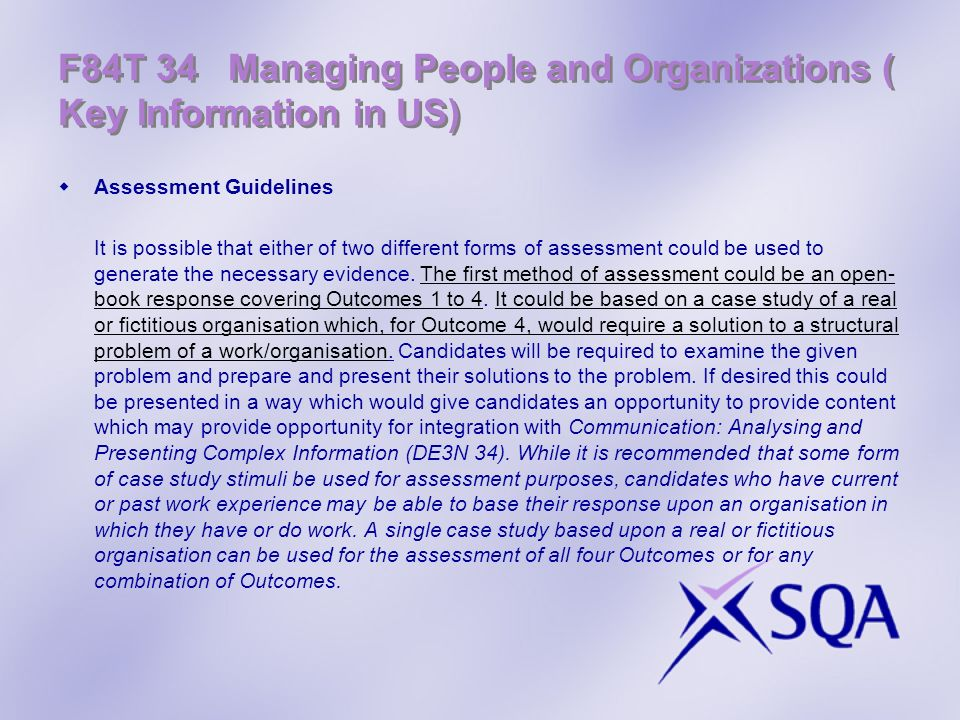 F84T 34 Managing People and Organizations ( Key Information in US)