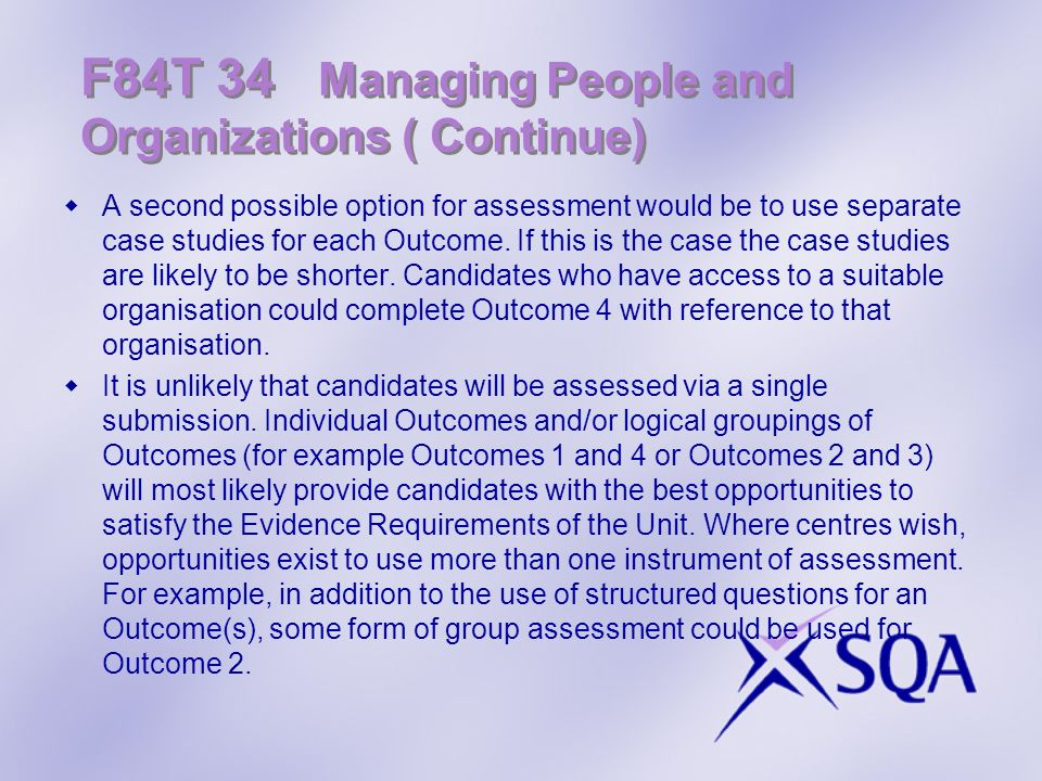 F84T 34 Managing People and Organizations ( Continue)