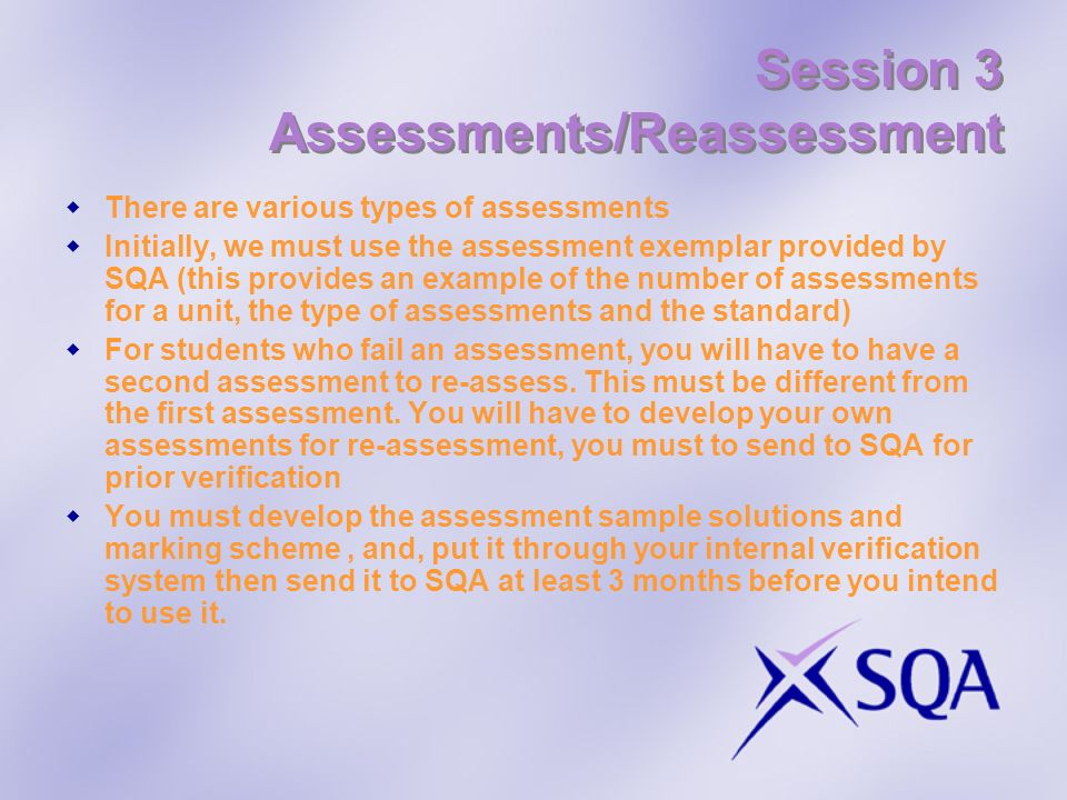 Session 3 Assessments/Reassessment