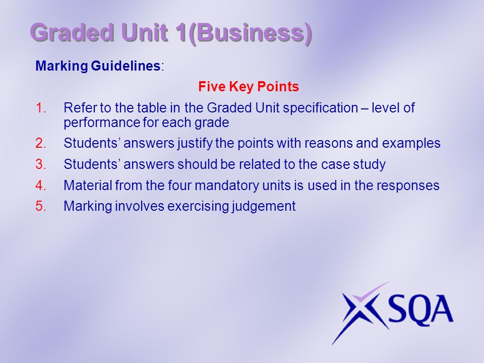 Graded Unit 1(Business)