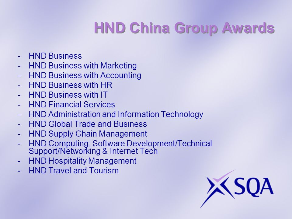 HND China Group Awards HND Business HND Business with Marketing