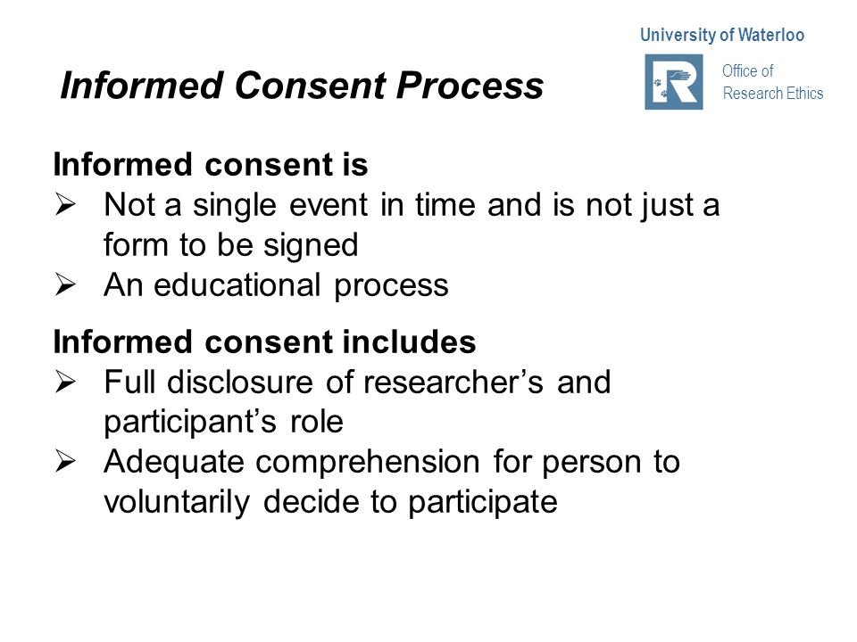 office of research ethics university of waterloo ppt