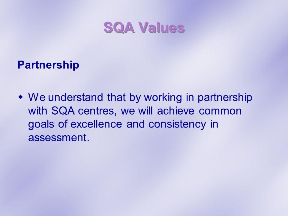 SQA Values Partnership