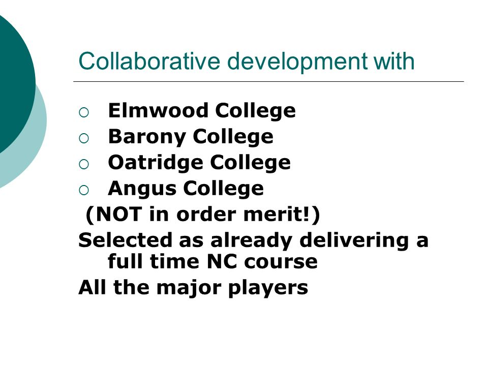 Collaborative development with