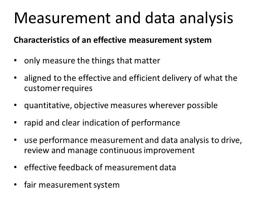 measurement analysis and improvement Read chapter front matter: performance measurement is the first in a new series of an ongoing effort by the institute of medicine performance measurement: accelerating improvement is the first in a new series of reports by the institute of medicine.
