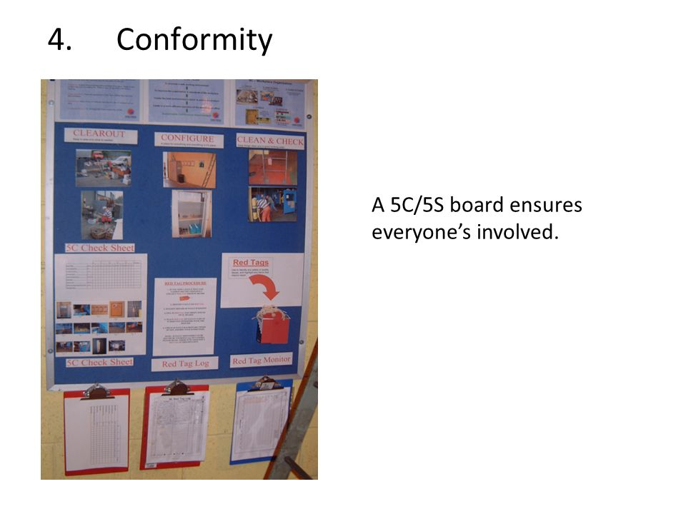 4. Conformity A 5C/5S board ensures everyone's involved.