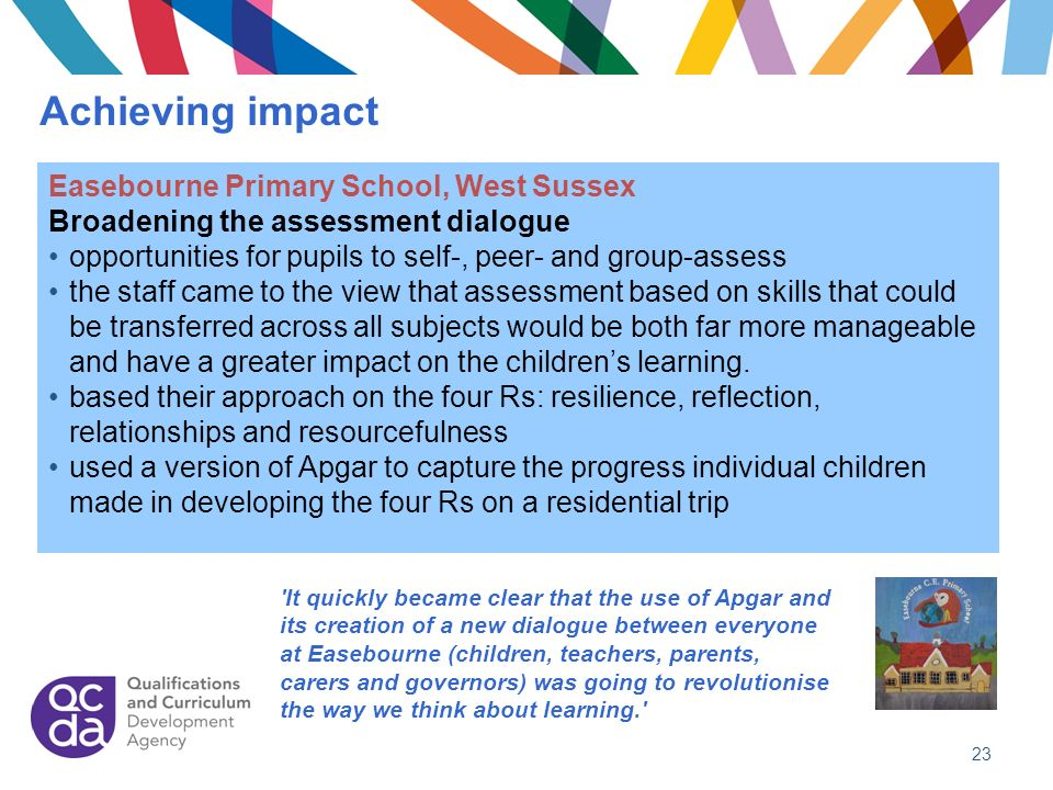 Achieving impact Easebourne Primary School, West Sussex