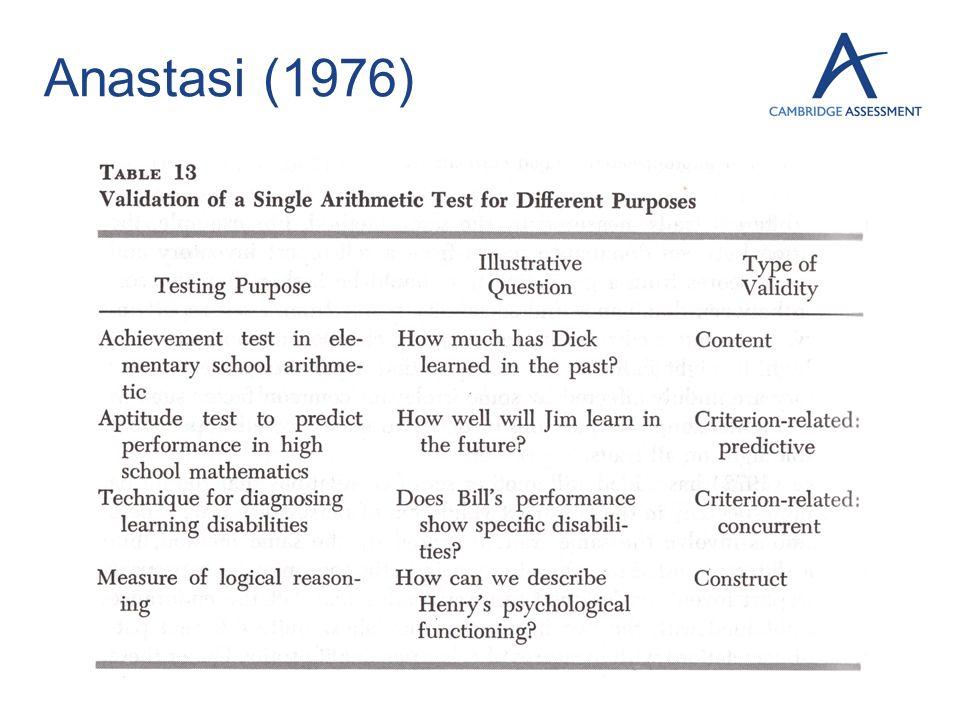 Anastasi (1976) 13