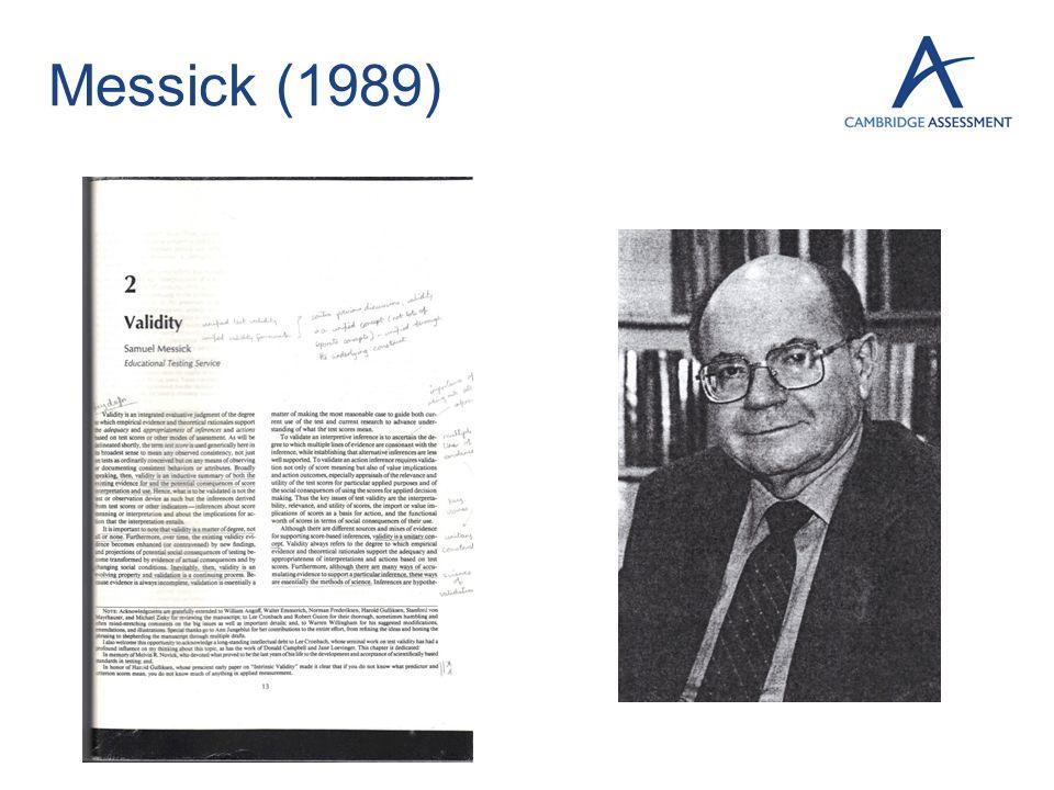 Messick (1989)