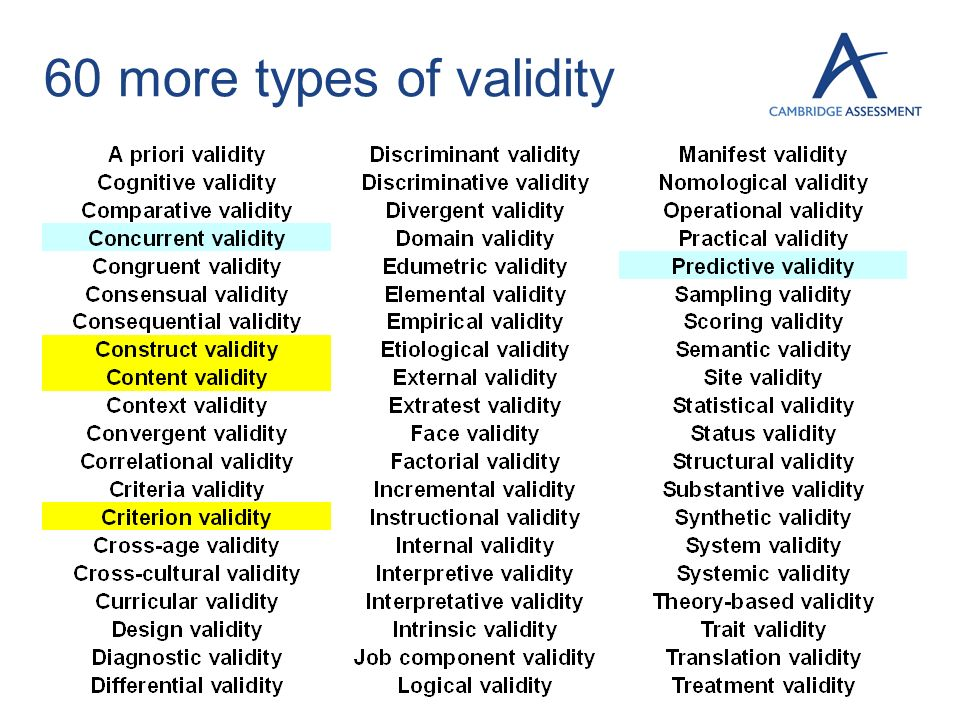 60 more types of validity 7
