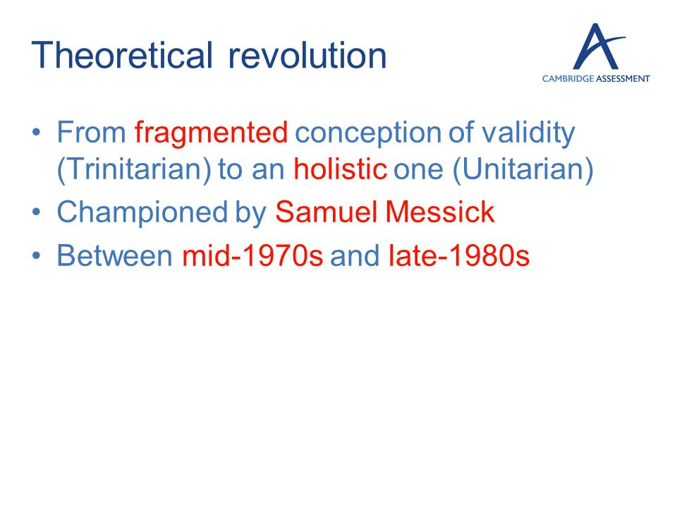 Theoretical revolution