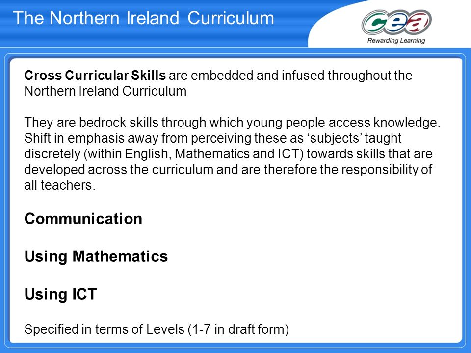 The Northern Ireland Curriculum