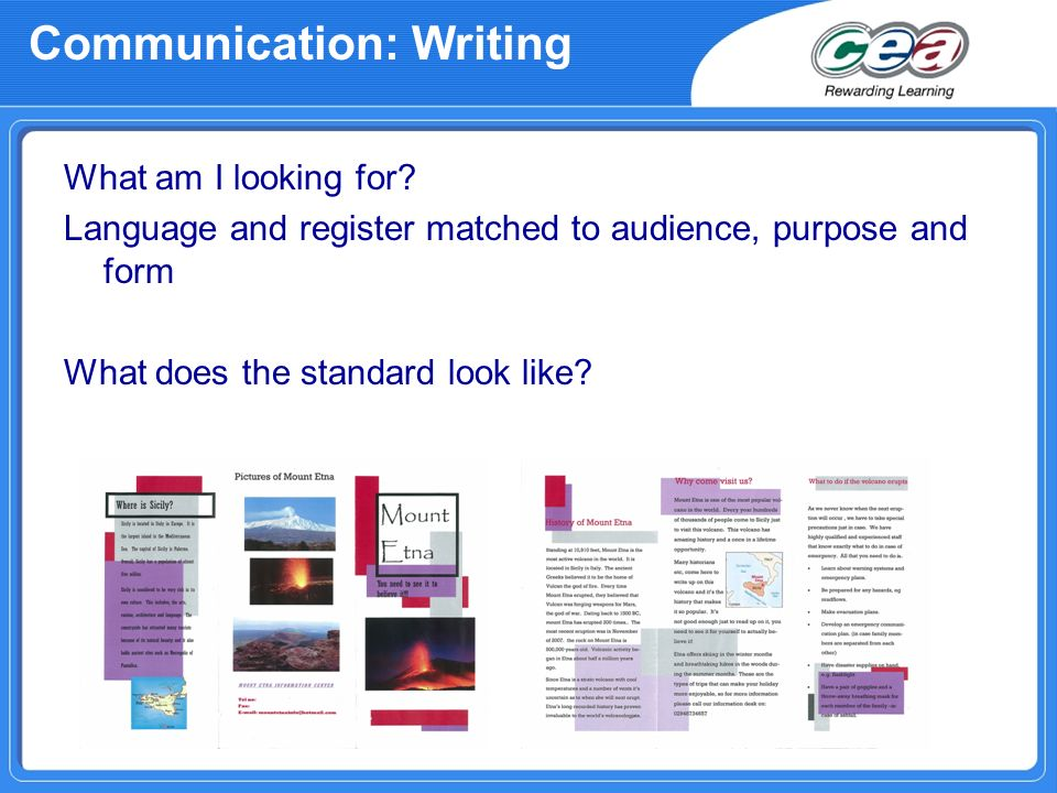 Communication: Writing