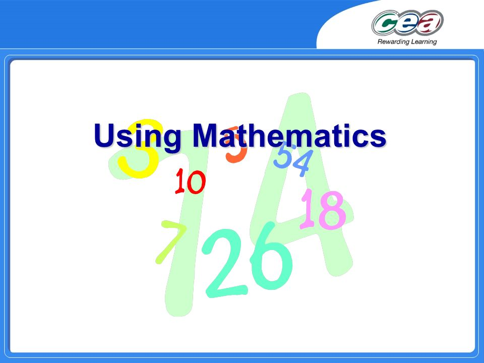 Using Mathematics