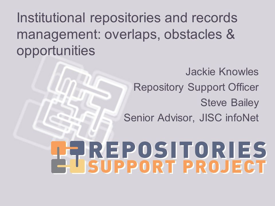 Institutional repositories and records management: overlaps, obstacles & opportunities