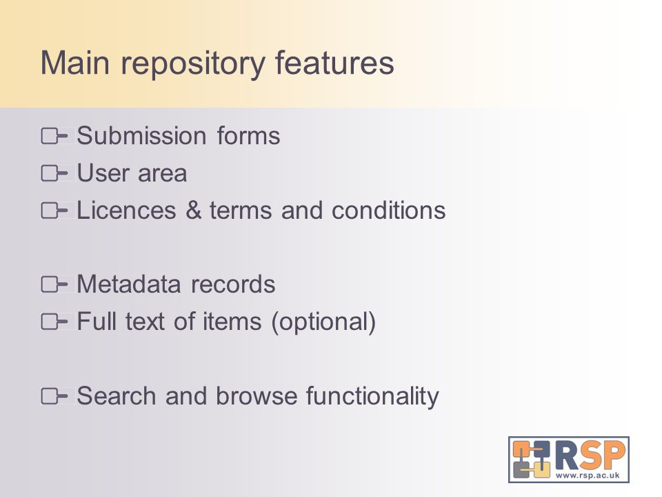 Main repository features