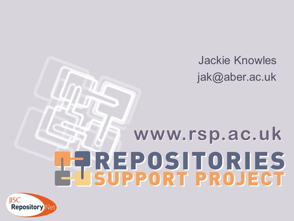 Jackie Knowles jak@aber.ac.uk