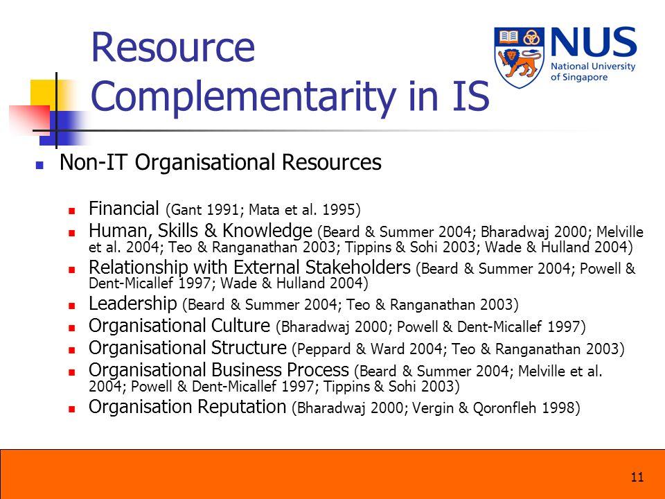 Resource Complementarity in IS