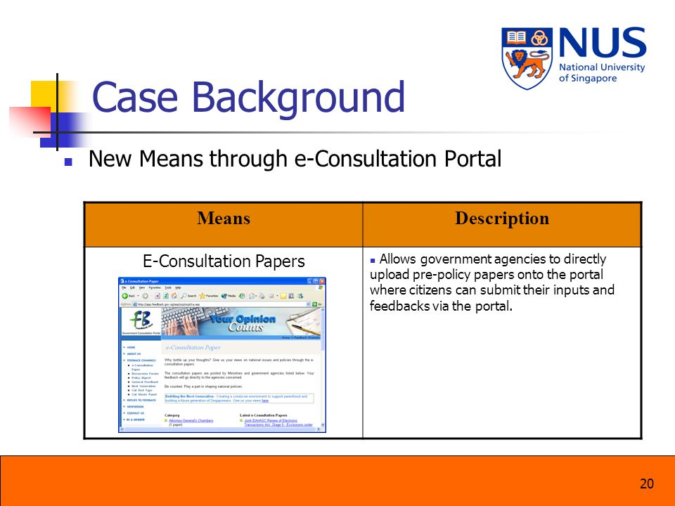 E-Consultation Papers