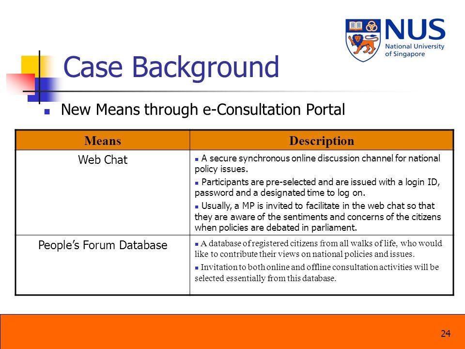 People's Forum Database