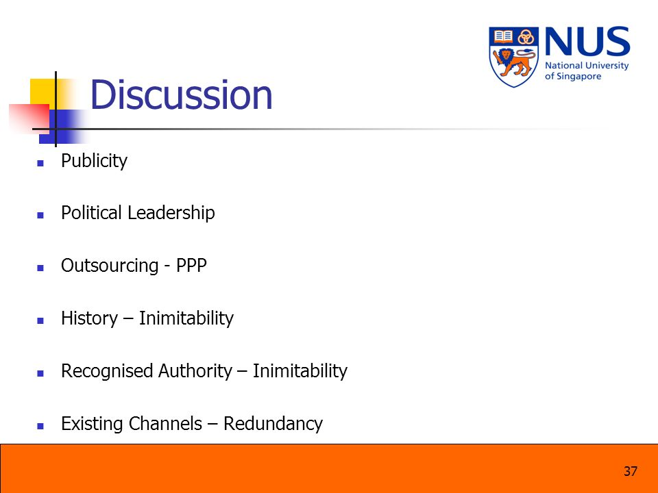 Discussion Publicity Political Leadership Outsourcing - PPP