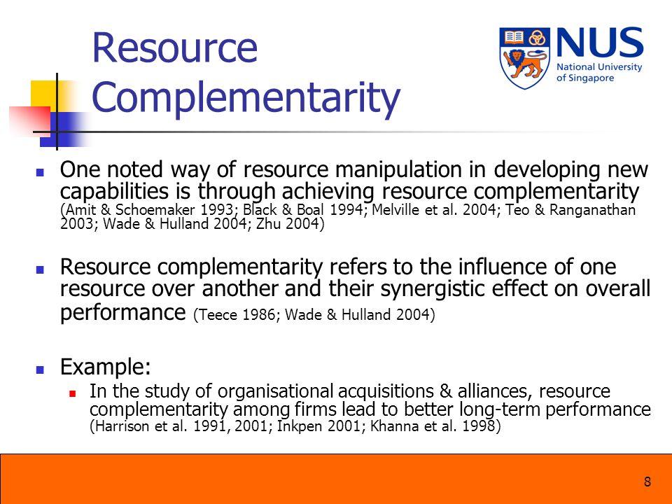 Resource Complementarity