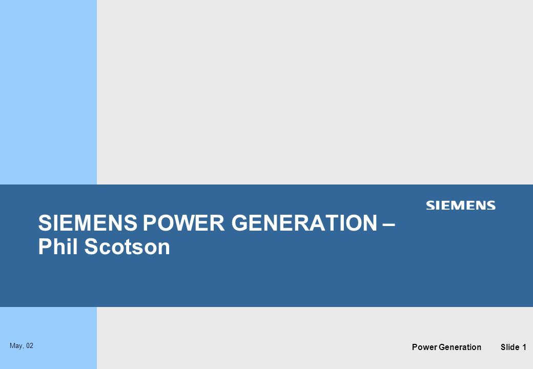 SIEMENS POWER GENERATION – Phil Scotson