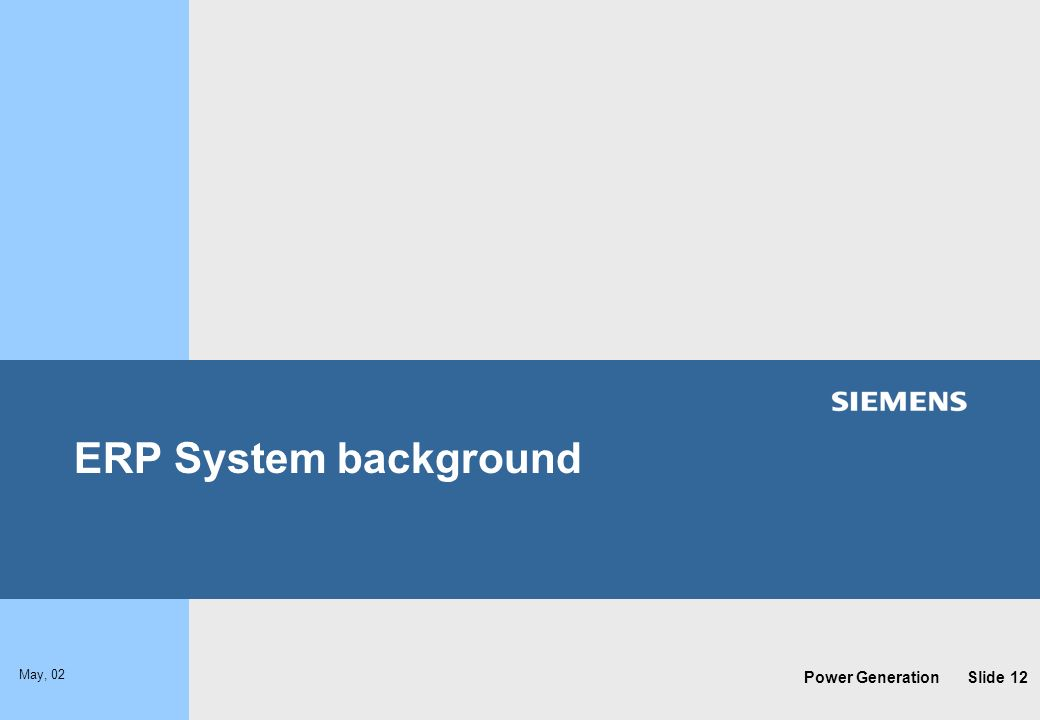 ERP System background
