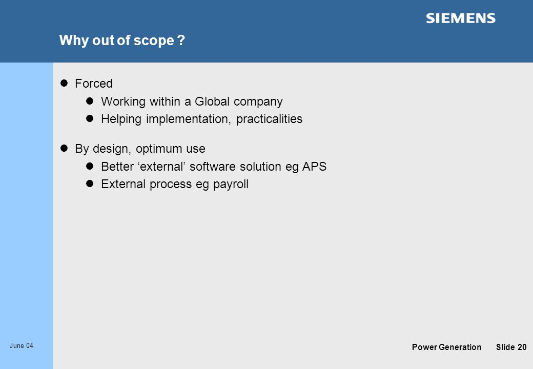 Why out of scope Forced Working within a Global company