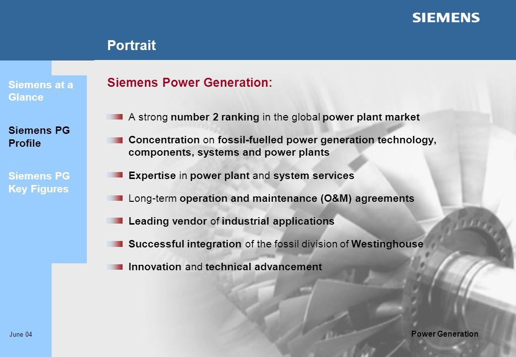 Portrait Siemens Power Generation: Siemens at a Glance