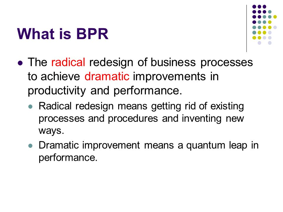 bpr and productivity Organisational performance effect of public sector bpr based on a sound   bpr process performance and organisational performance.