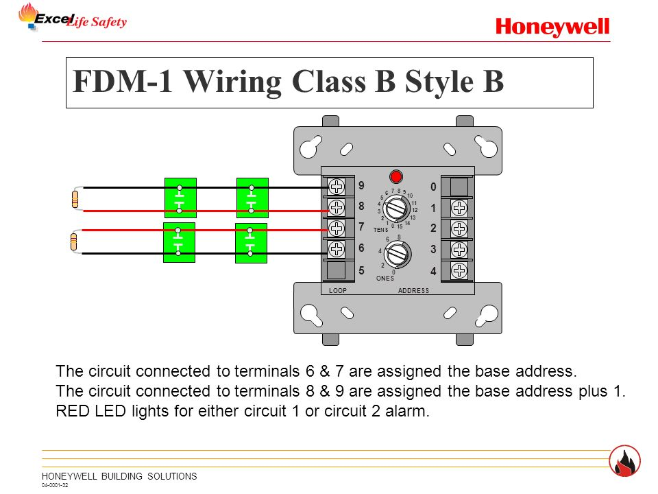 FDM 1+Wiring+Class+B+Style+B intelligent control panel slc ppt video online download notifier fdm-1 wiring diagram at soozxer.org