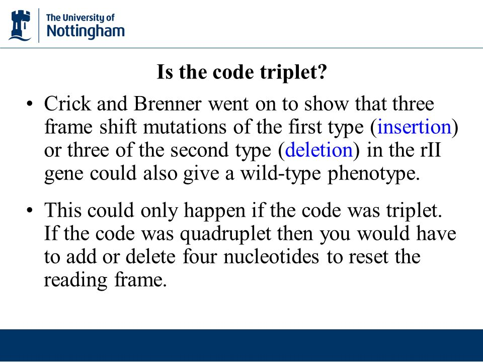 Is the code triplet