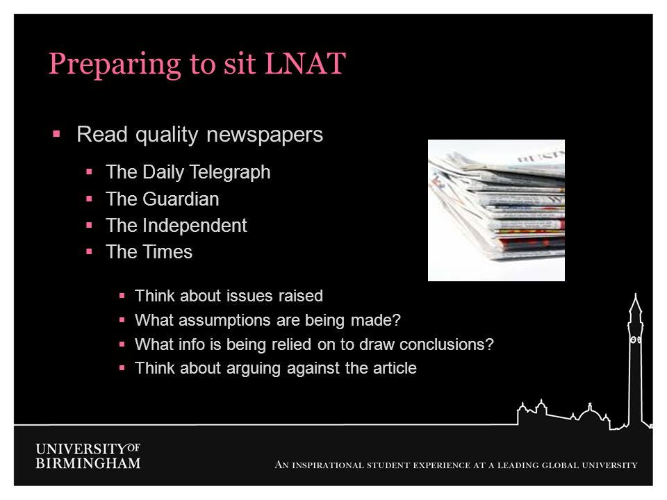 Preparing to sit LNAT Read quality newspapers The Daily Telegraph