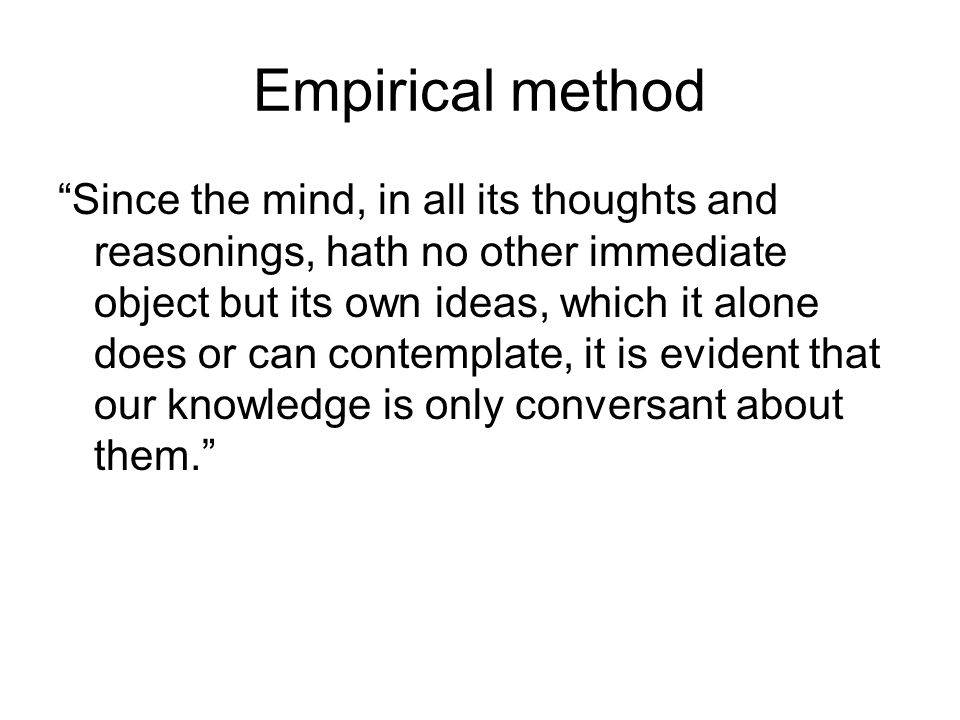 Empirical method