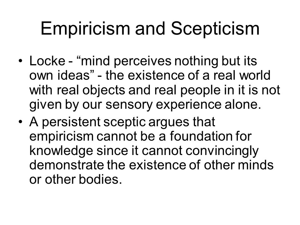 Empiricism and Scepticism