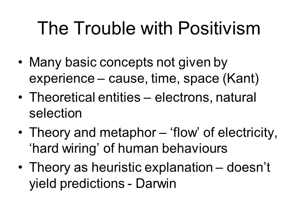 The Trouble with Positivism