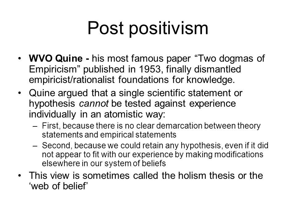 Post positivism